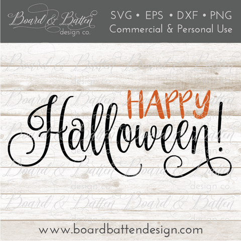 Happy Halloween SVG File