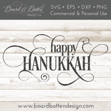 Happy Hanukkah SVG File - Commercial Use SVG Files