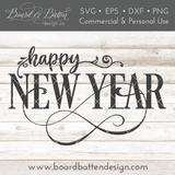 Happy New Year SVG File - Commercial Use SVG Files