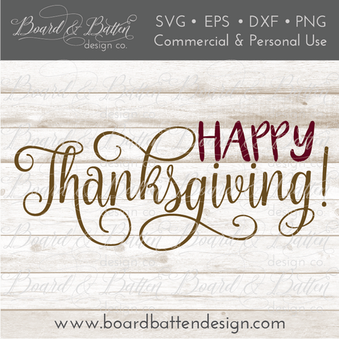 Happy Thanksgiving SVG File