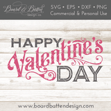 Vintage Happy Valentine's Day SVG File - Commercial Use SVG Files