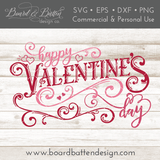 Elaborate Happy Valentine's Day SVG File - Commercial Use SVG Files