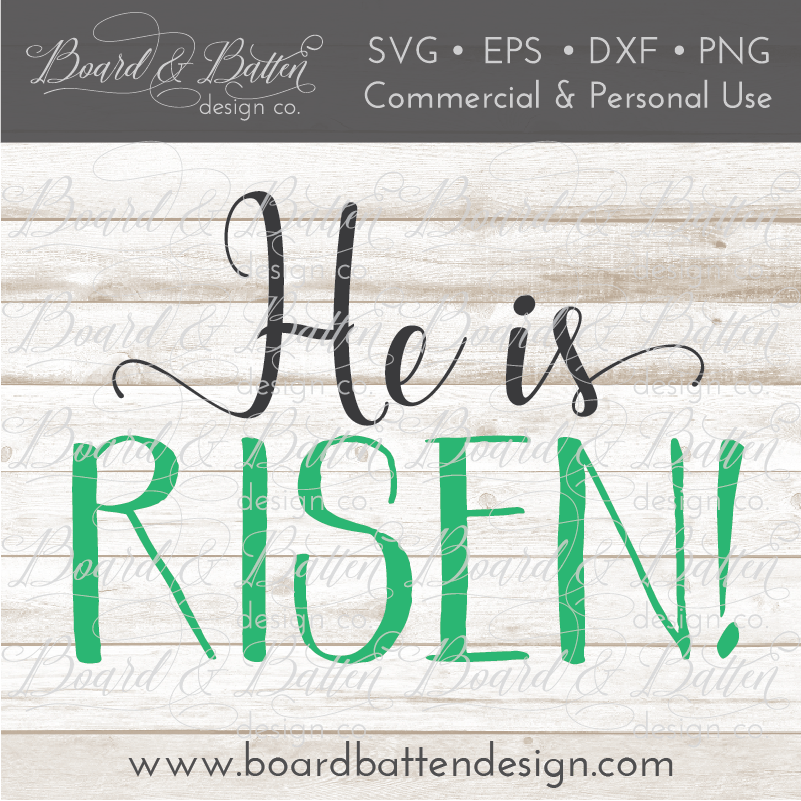 He Is Risen Christian SVG File