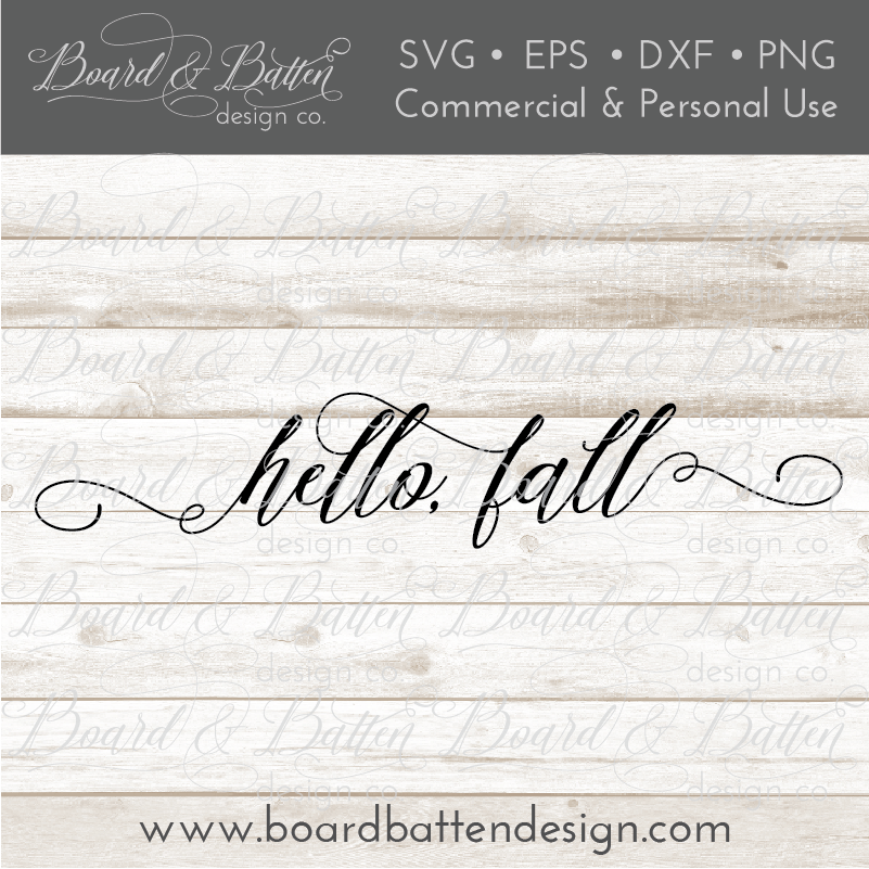 Hello Fall SVG File - Commercial Use SVG Files