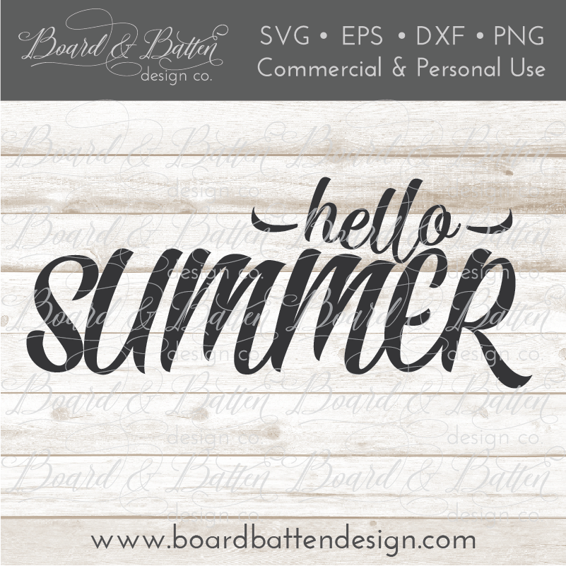 Hello Summer SVG File - Commercial Use SVG Files