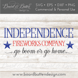 Independence Fireworks Co. SVG File - Commercial Use SVG Files