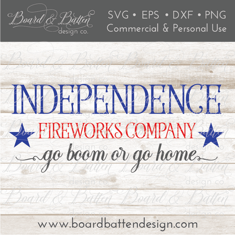 Independence Fireworks Co. SVG File