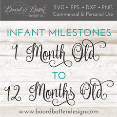 Baby Milestones SVG – Month By Month - Commercial Use SVG Files