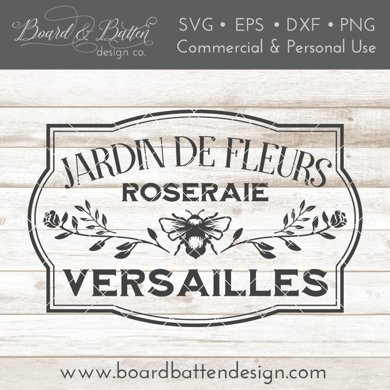 Jardin De Fleurs French Shabby SVG File - Commercial Use SVG Files