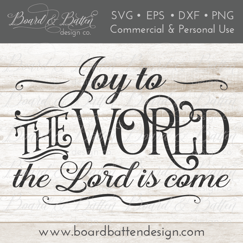 Joy To The World Christmas Song SVG File - Commercial Use SVG Files
