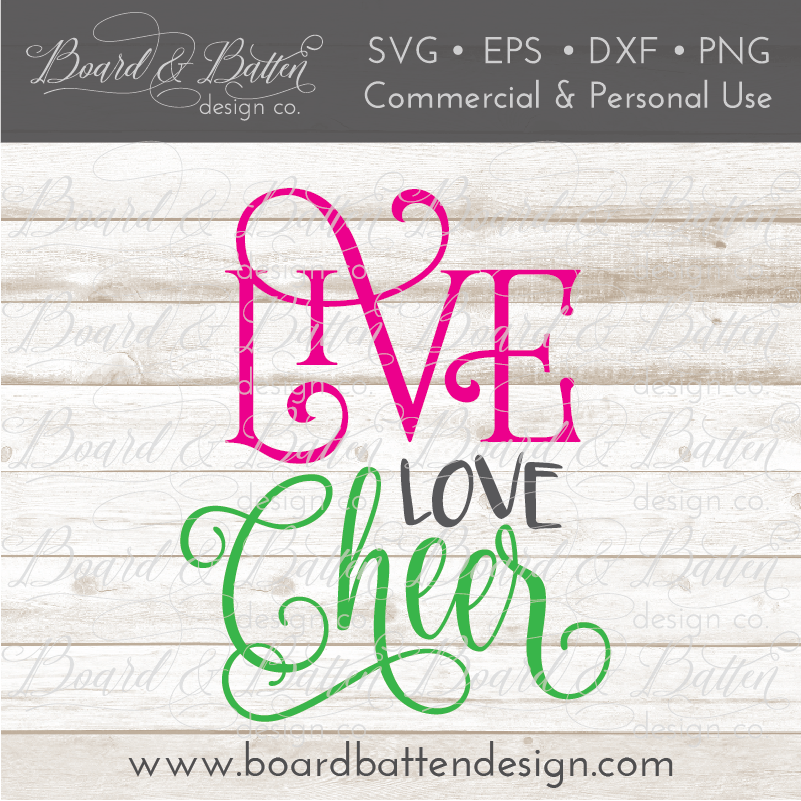 Live Love Cheer SVG File