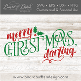 Merry Christmas Darling SVG File - Commercial Use SVG Files