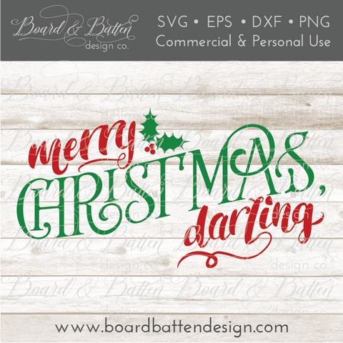 Merry Christmas Darling SVG File