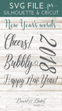 Script New Year's Words SVG File Set - Commercial Use SVG Files