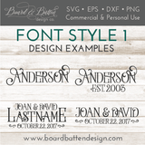 Customizable Personalized Name & Est Date SVG File - Commercial Use SVG Files