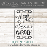 Personalizable Welcome To My Garden Flag SVG File - Commercial Use SVG Files
