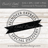 Reindeer Express Customizable SVG File for Christmas Bags - Commercial Use SVG Files