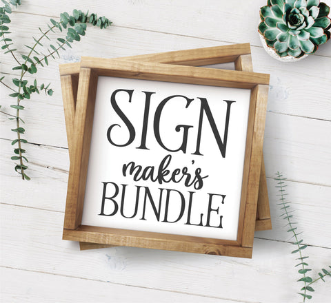 The Giant Sign Maker's SVG Bundle