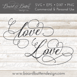 Love SVG File - Commercial Use SVG Files