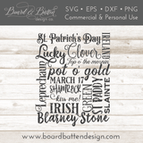 St Patrick's Day Subway Art SVG File - Commercial Use SVG Files