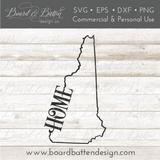 "State Outline ""Home"" SVG File - NH New Hampshire - Commercial Use SVG Files"