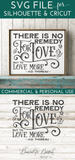 There Is No Remedy For Love Thoreau SVG File - Commercial Use SVG Files
