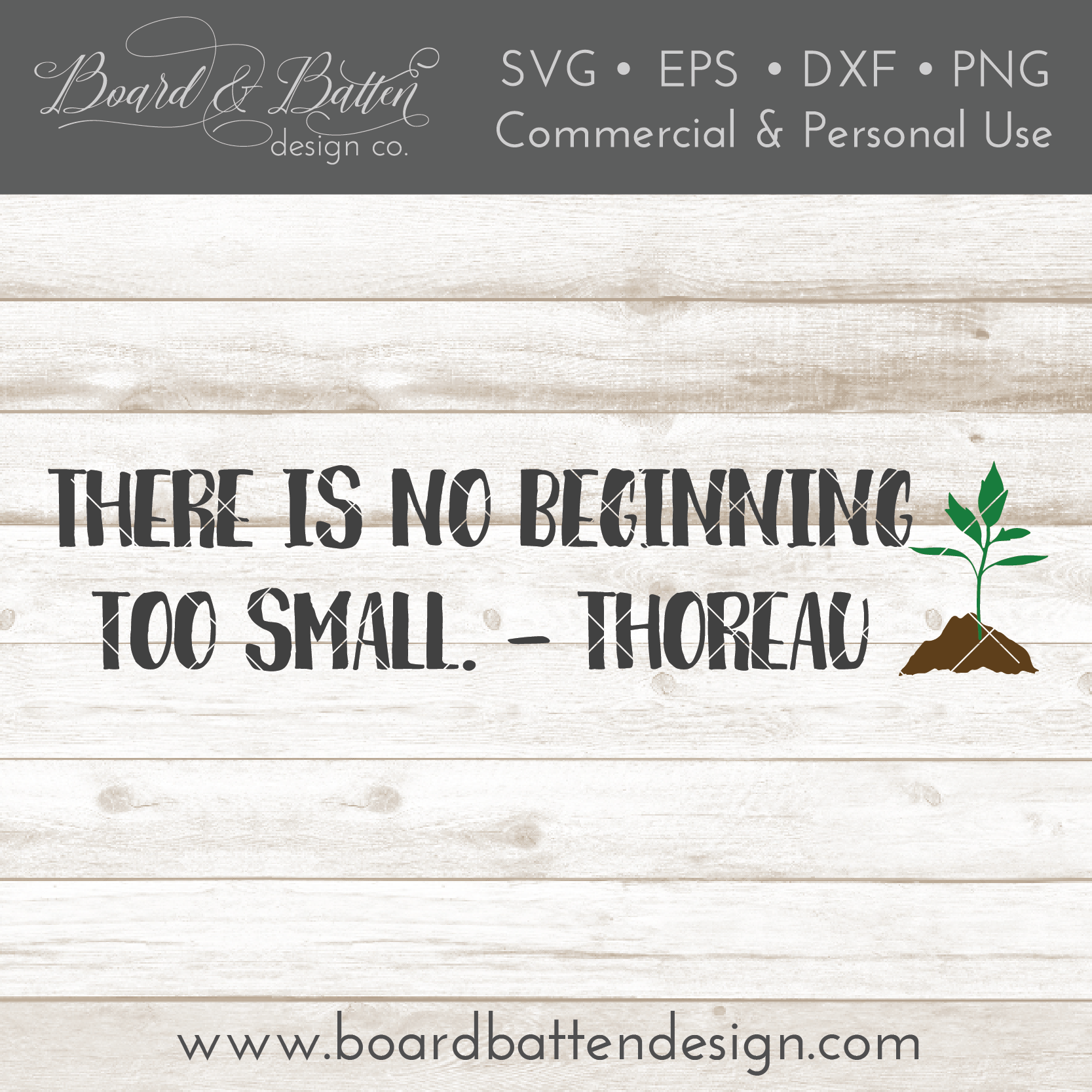 There Is No Beginning Too Small Thoreau Quote SVG File - Commercial Use SVG Files