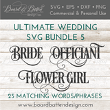 Wedding Words SVG Bundle - WS5 - Commercial Use SVG Files