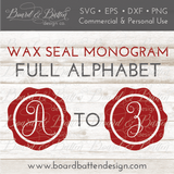 Wax Seal Monogram Alphabet SVG File - Commercial Use SVG Files
