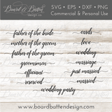 Wedding Words SVG File Bundle Style 3 - Commercial Use SVG Files