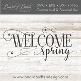 Welcome Spring 1 SVG File - Commercial Use SVG Files