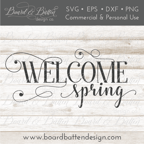 Welcome Spring SVG File