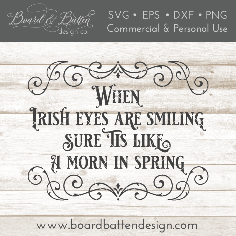 When Irish Eyes Are Smiling SVG File