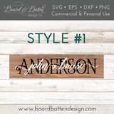 Personalized Names 6x24 Size Plank SVG File - Commercial Use SVG Files