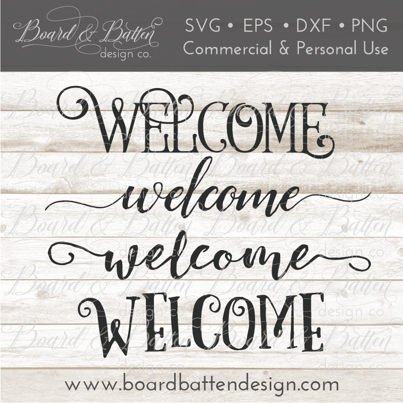 Welcome SVG File Set 1 - Commercial Use SVG Files