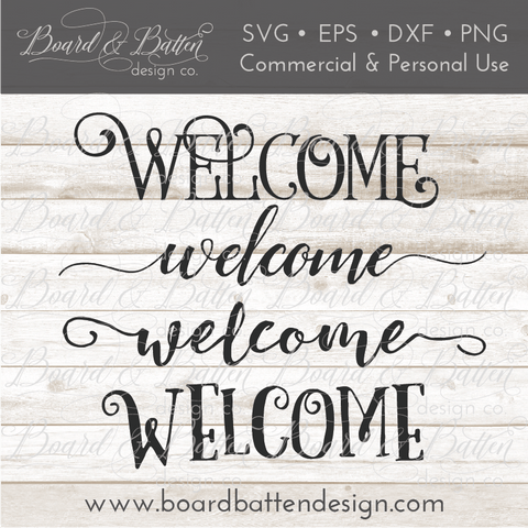 Welcome SVG File Set 1