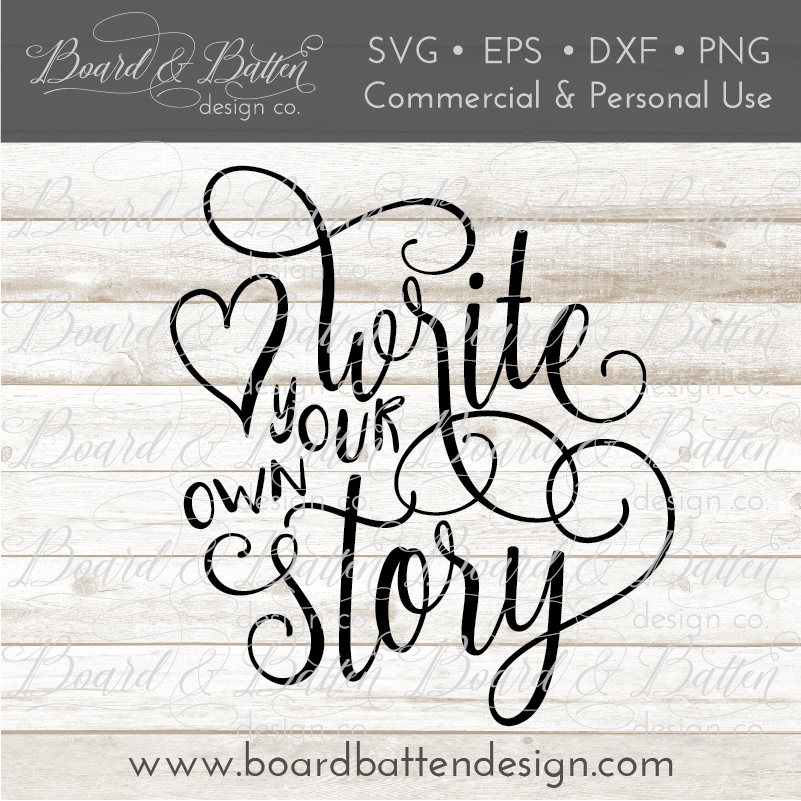 Write Your Own Story Motivational SVG File