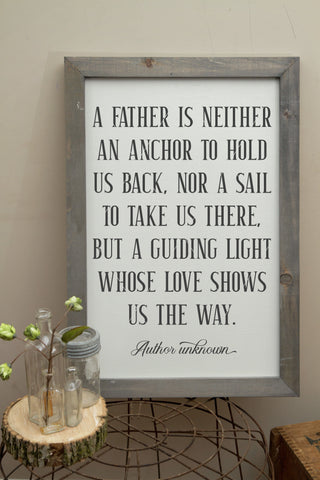 A Father Is Neither An Anchor Nor A Sail SVG File