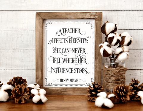 A Teacher Affects Eternity Henry Adams SVG File