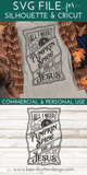 Vintage All I Need Is Pumpkin Spice And Jesus SVG Cut File