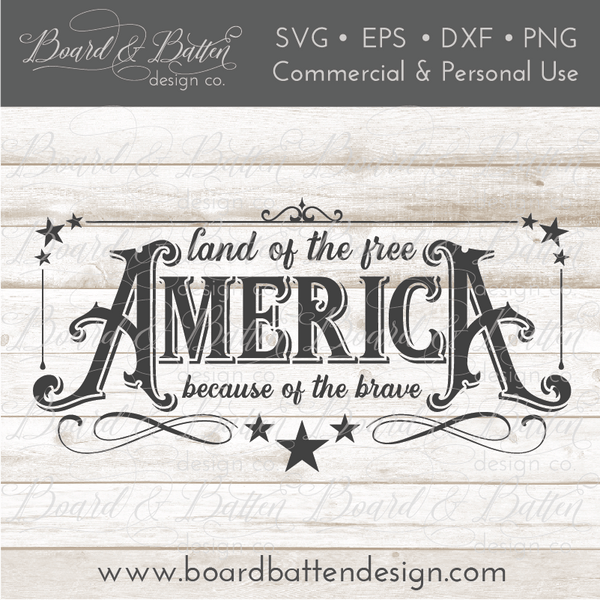Designall20 July 2012: America The Land Of The Free Because Of The Brave SVG