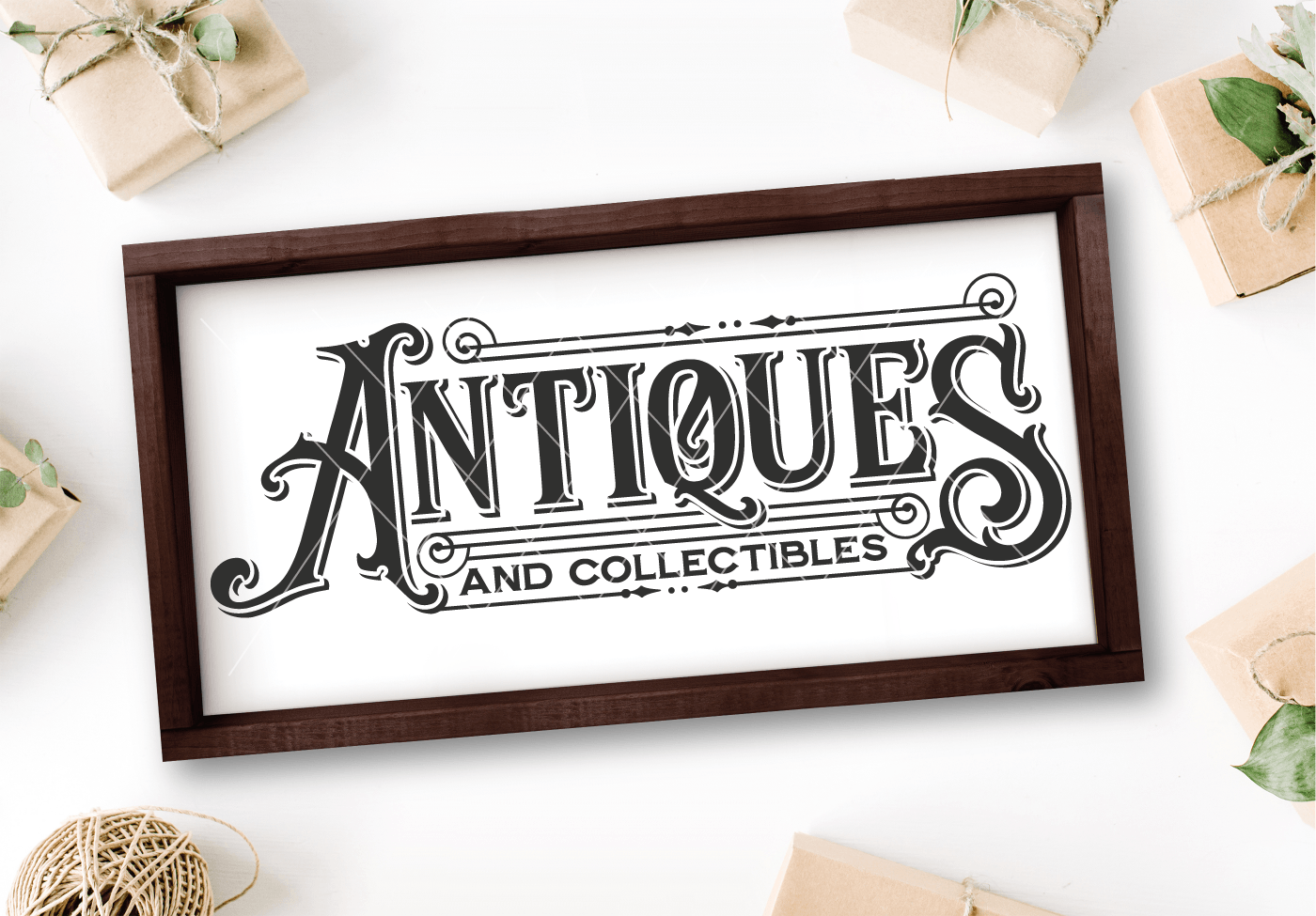Antiques and Collectibles Vintage SVG File