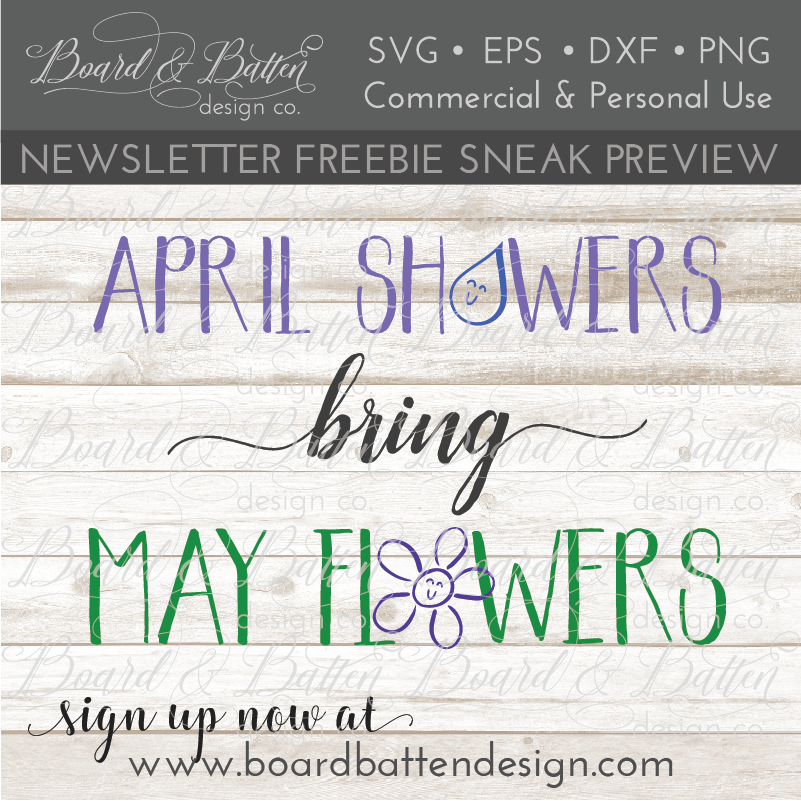 April Showers Bring May Flowers SVG File - Commercial Use SVG Files