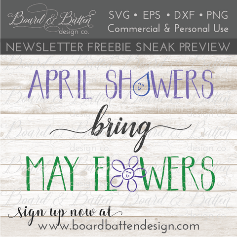 April Showers Bring May Flowers SVG File