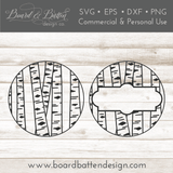 Aspen Trunks Round Blank SVG File for Ornaments/Rounds/Etc
