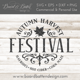 Autumn Harvest Festival SVG File for Fall - Commercial Use SVG Files