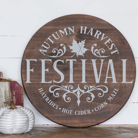 Autumn Harvest Festival SVG File for Fall