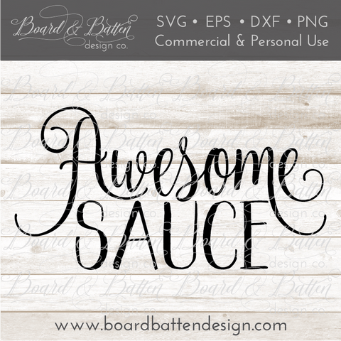 Awesome Sauce SVG File