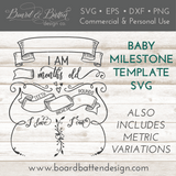 Baby Milestone Chart SVG File - Commercial Use SVG Files