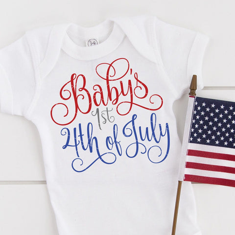 Baby's First 4th of July SVG File - Independence Day